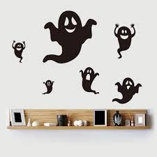 black ghost halloween diy vinyl wall sticker home decor decal black ghost halloween removable vinyl wall sticker home decor decal mural diy