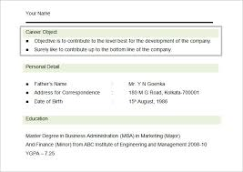 Sample Resume For Mba Finance Freshers by Resume Objectives U2013 46 Free Sample Example Format Download