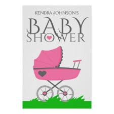 baby shower poster stroller baby shower posters zazzle