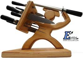 kitchen knives holder free shipping 1piece spartan knife block wooden warrior