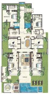 resort floor plan based on the concept of the standard beach villa this variation