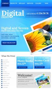 print shop facebook html cms template 43151