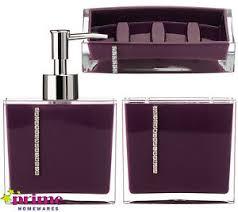 Black And Purple Bathroom Sets Fashion Bathroom Set 4pcs In One Purple Bath Set Bathroom