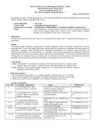 handout instruction set computer program