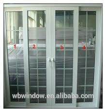 Double Glass Door by Pvc Sliding Door With Double Glass And Grill Design Buy Interior
