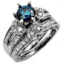 blue wedding rings blue wedding ring 40 blue wedding set diamonds