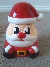 santa ornament cookie jar with removable lid cookie