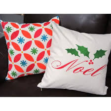 noel script diy decorative pillow stencil kit diy accent pillows