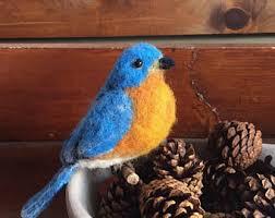 felt bluebird etsy