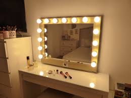 mirror with light bulbs bulb lighted vanity mirror awesome house lighting perfect