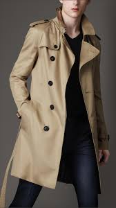 burberry mid length cotton blend trench coat  750 style watch