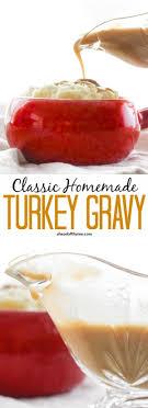 classic turkey gravy ahead of thyme