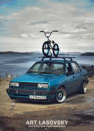 mk2 jetta slammed coupe in perfect black solid something about