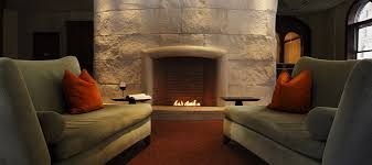 mesmerizing white stone element for terrific modern fireplace