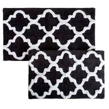 Black And White Bathroom Rugs Lavish Home Bath Rugs Mats Mats The Home Depot