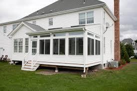 enclosed porch in ellington ct bailey carpentry
