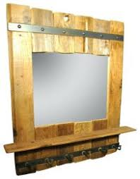Pottery Barn Shelf With Hooks Pottery Barn Entryway Mirror With Hooks Reclaimed Wood Mirror With