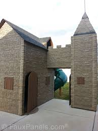 Playhouse Dwell Com by A Diy Playhouse Looks Impressive With Fake Stone Exterior Paneling