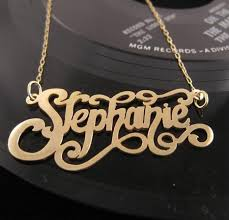 necklace pendants personalized images Gold custom nameplate necklace initial obsession jpeg