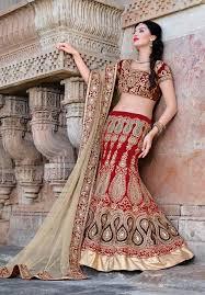Bridal Wear Maroon Embroidered Indian Bridal Wear Lengha Choli