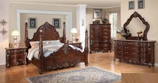 Bedroom Sets Traditional Style - luxor traditional style 5pc bedroom set in brown w options