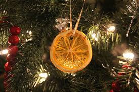 dried orange slice ornaments at cloverhill