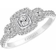 engagement ring walmart keepsake 5 8 carat t w certified 10kt white gold
