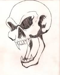 awesome vire skull design simple skull tattoos