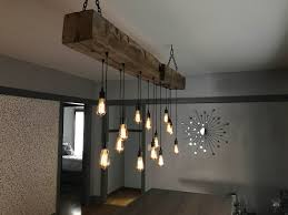 Midwest Chandelier Company 84 Barn Beam Light Fixture With Led Edison Bulbs