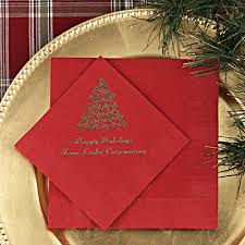 christmas personalized christmas party napkins personalized christmas napkins printed