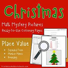 christmas place value coloring worksheets printables u0026 worksheets