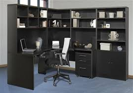 L Shaped Desk With Bookcase L Shaped Office Desk With Hutch And Return Home Design Ideas