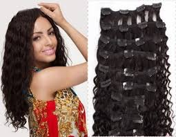 curly hair extensions clip in 18 9pcs curly clip in 100