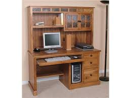 Solid Oak Desk With Hutch by Interior Grey Brown Modern Solid Wood Writing Desk And Laptop L