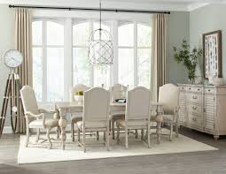 hekman homestead 7 piece rectangular dining set in linen by dining