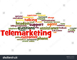 Home Design Center Telemarketing by Telemarketing Word Cloud Concept On White Stock Illustration