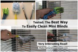 tested the best way to easily clean mini blinds