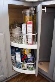kitchen corner cupboard rotating shelf i ve turned a new corner organizing the corner lazy susan