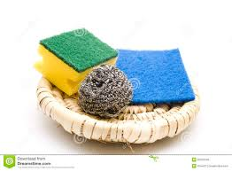 kitchen sponge with sponge cloth royalty free stock images image