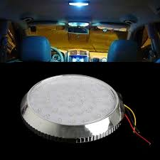 led ceiling dome light 1pcs 4 2w led car interior light circular crystal roof ceiling light