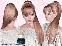 the sims 4 cc hair ponytail side ponytail hair 191 by skysims sims 3 downloads cc caboodle