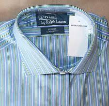light blue striped polo dress polo ralph lauren 16 5 36 37 regent dress shirt light blue striped l