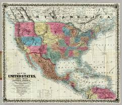 states canada map map of the united states canada mexico central america and the