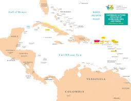 Caribbean Map by Map Of The Caribbean Region Caribbean Travel Update