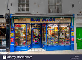 blue moon trading shop goodramgate york stock photo 94988776
