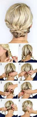 Hochsteckfrisurenen Zum Selber Machen Schulterlange Haare by Einfache Frisuren Haare Zöpfe Hochsteckfrisur Selber