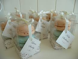 macaron wedding favors clear boxed macaron favours just yours weddings
