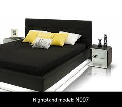 Platform Bed With Lights Infinity Contemporary Black Platform Bed W Lights