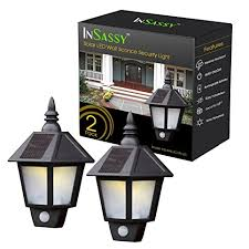 Outdoor Solar Wall Sconce Solar Wall Sconce Lights Outdoor Security With Motion Sensor By