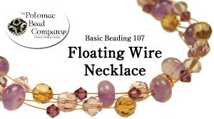 make a floating wire necklace youtube